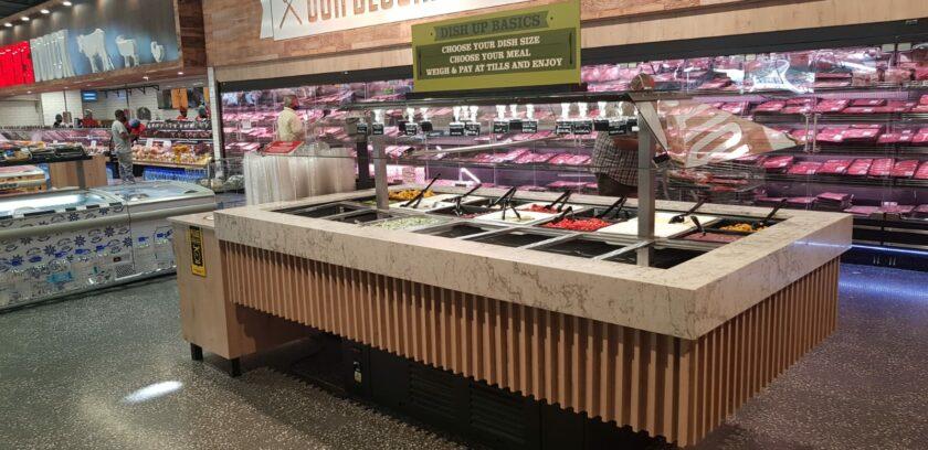 B4101 - Rectangular Hot Salad Bar with Glass Canopy