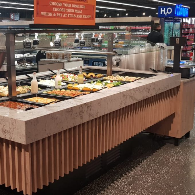 B4202 - Rectangular Salad Bar with Glass Canopy